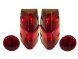 Glass lens rear light